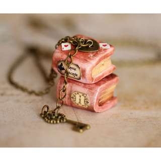 Spell Book Necklace(042)