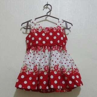 Flower polka dots dress