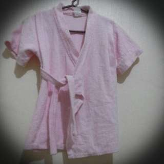 Pink bath wrobe