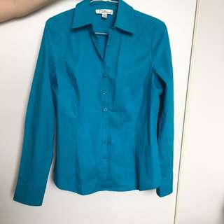 Teal Coloured Cotton Shirt Size 4