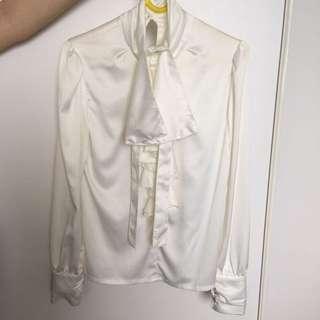 Silky White Shirt
