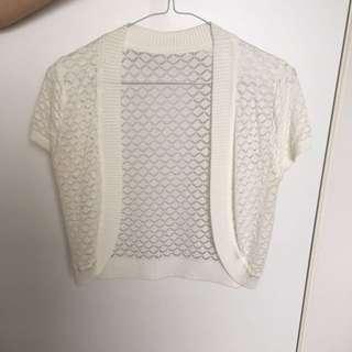 White Short Sleeve Garment