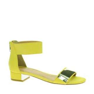 Size 9 ASOS Yellow Sandals With Silver Detail