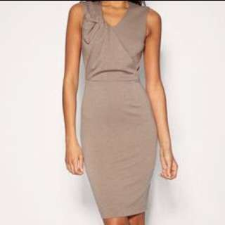 Size 10 ASOS Knee Length Fitted Work Dress