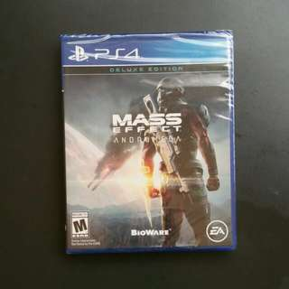 Brand new unopened Mass Effect Andromeda Deluxe Edition PS4