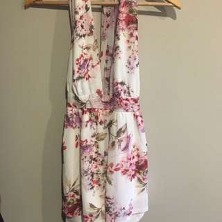 Floral Playsuit Size 8