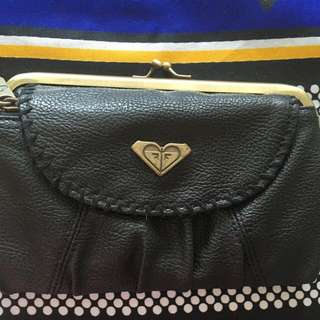 Last Price! Roxy Purse Clutch Black with gold clasps