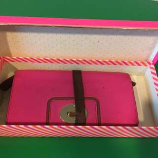 Last Price! Kate Spade Purse Genuine Hot Pink  Used but still cute as hell