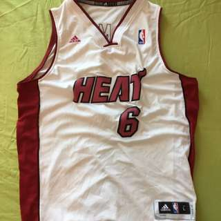 Last Price! NBA Limited Edition LeBron James Miami Heat Jersey men's XL