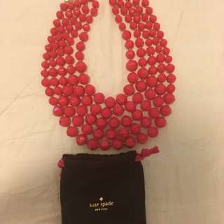 Last Price! Price Drop! Kate Spade Genuine Statement Piece Hot Pink Necklace