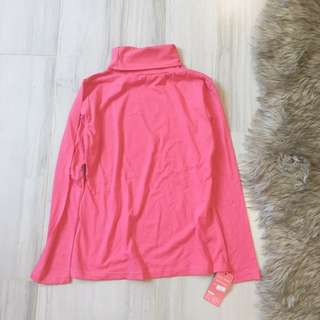 Hot Pink Turtle Neck Top
