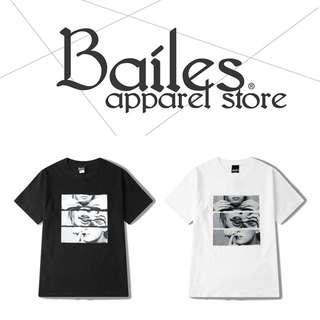 貝里斯Bailes【AS013】日韓版 / 男女款 日韓款捲煙女子印花搭配棉質休閒圓領短袖T恤