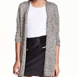 h&m divided grey fine knit cardigan size xs
