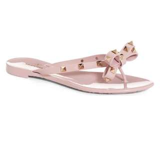 """In Search Of Valentino Nude """"Rockstud' Flip Flop"""