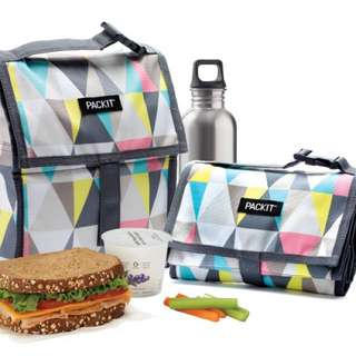 Packit 可折疊保冷袋冰袋拉鍊袋(Lunch Bag Size)