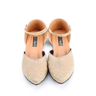 Glitz and Glam Nude or Beige Ethnic Shoes For Women