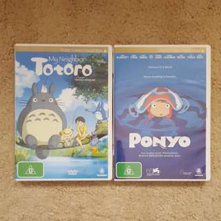 Two Studio Ghibli DVDs