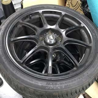 Rim With Tyre . Rim Is 18inch .