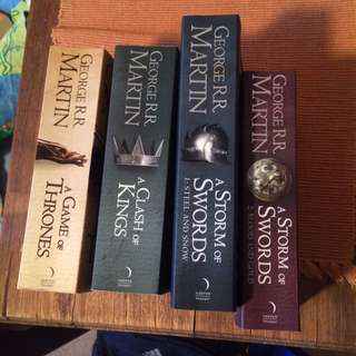 Game Of Thrones Books 1,2,3,4