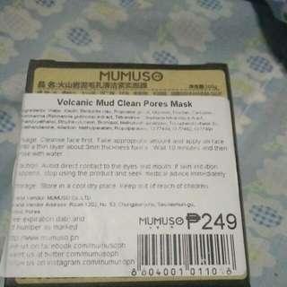 Mumuso Volcanic Mud Clean Pores Mask