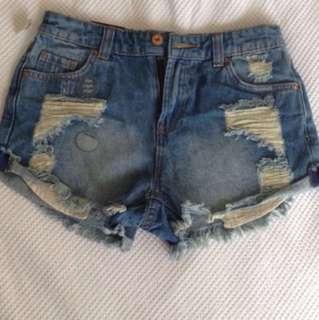 JayJays High Wasted Distress Shorts