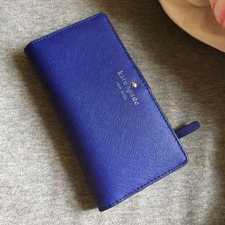 Kate Spade 寶藍小型長夾 法國購入