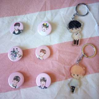 BTS Fansite Keychains Pinback Buttons
