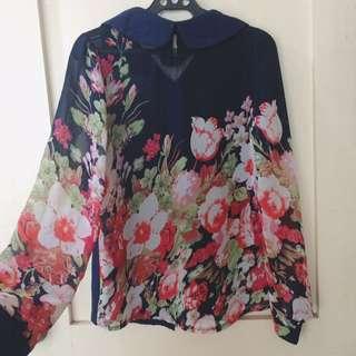 Preloved Korean Floral Top