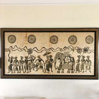Sri Lankan Batik Art (Framed)