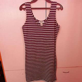 Authentic Forever 21 Fitted Strips Dress