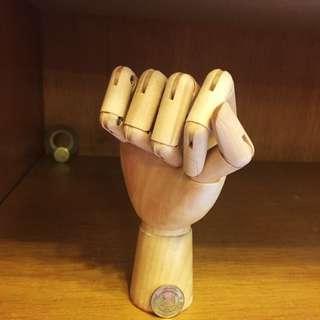 artists wooden hand model