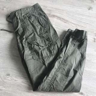 Hollister Green Cargo Pants
