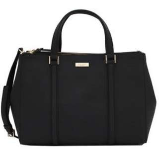 Kate Spade Small Loden Newbury Lane Carry All Shopper Tote Bag (Small, Black)