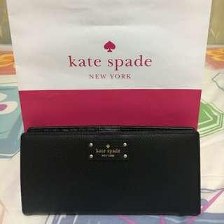 Kate Spade Black Wallet (Large Stacy)