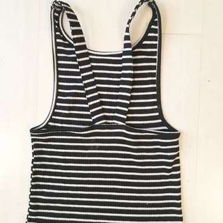Stripe Singlet Crop