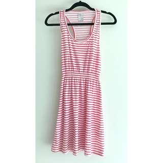 ZARA striped razorback dress