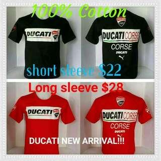 Ducati Long And Short Sleeve T-shirt Sale $10