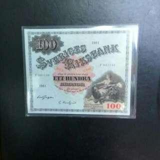 Sweden 100 Kronor 1961