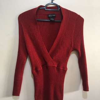 Red Stretcahble Blouse