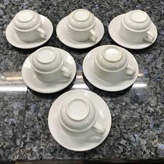 White Tea Cups With Plates