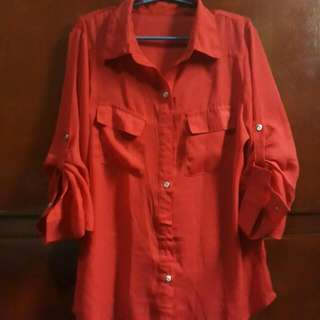 Preloved Red Polo