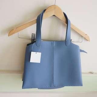 全新 蘭芝 水藍色 手提包