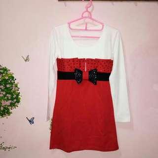 Baju lengan panjang merah putih