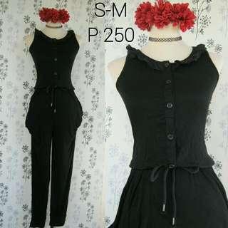 Black Buttondown Jumpsuit
