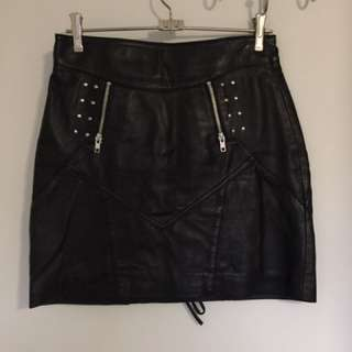 Alice In The Eve Leather Skirt