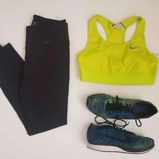 Nike tennis yellow sports bra. Small. Php 800. (Org Price 2k+)