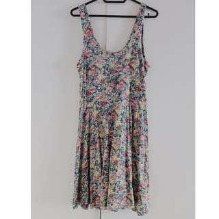 Large Floral Tank Dress (Short)