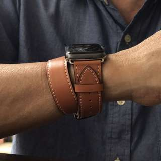leather straps for applewatch Hermes inspired designs