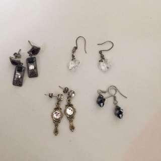 耳環earring, @ $40 Each Pairs Include Postage