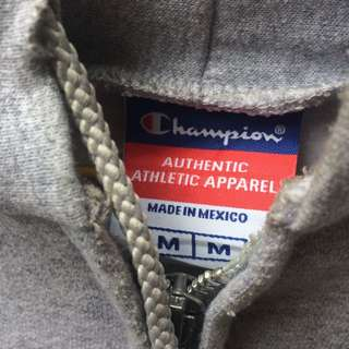 Champion Ziphoodie grey